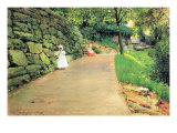 In The Park - a Byway Print by William Merritt Chase