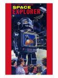 Space Explorer Robot Poster