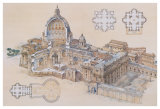 Rome - St. Peter's Basilica Giclee Print