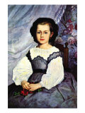 Portrait of Mademoiselle Romaine Lancaux Prints by Pierre-Auguste Renoir