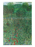 Garden Landscape Posters by Gustav Klimt