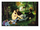Luncheon On The Grass Poster by &#201;douard Manet