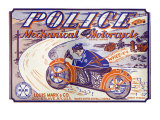 Police Mechanical Motorcycle Posters