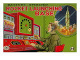 Rocket Launching Base Posters