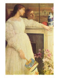 Symphony In White No. 2, Girls In White Prints by James Abbott McNeill Whistler