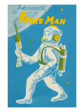 Mechanical Space Man Poster