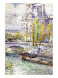 The Louvre On Port Royal Poster by Childe Hassam