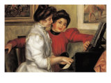 Yvonne and Christine Lerolle At The Piano Posters by Pierre-Auguste Renoir