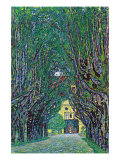 Way To The Park Kunstdrucke von Gustav Klimt