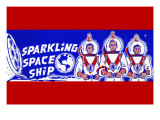 Sparkling Space Ship Posters