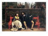 Faust and Marguerite In The Garden Kunstdrucke von James Tissot