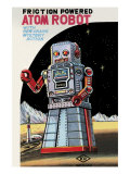 Friction Powered Atom Robot Posters