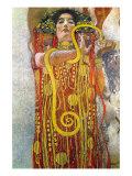Hygeia Poster av Gustav Klimt