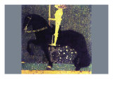 The Life of a Struggle (The Golden Knights) Prints by Gustav Klimt