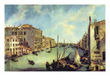 Grand Canal At San Vio Prints by Canaletto