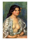 Gabrielle with Open Blouse Poster by Pierre-Auguste Renoir