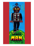 Mechanical Walking Space Man Poster