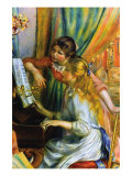 Girls At The Piano Print by Pierre-Auguste Renoir