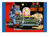 X-9 Space Robot Car Posters