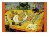 Still Life Drawing Board Pipe Onions and Sealing-Wax Print by Vincent van Gogh