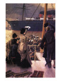 Farewell To The Mersey Print by James Tissot