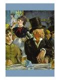 Cafe Concert Konst av Édouard Manet