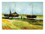 Strand in Scheveningen bei ruhigem Wetter Giclée-Premiumdruck von Vincent van Gogh