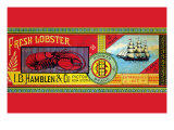 Pioneer Brand Fresh Lobster Print