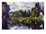 マルヌ川にかかるクレテイルの橋 1888年 高品質プリント : ポール・セザンヌ