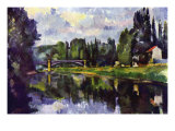 Marne Shore Prints by Paul Cezanne