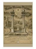 Masonic Symbols - Master Masons Diploma Posters