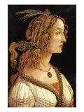 Portrait of Simonetta Vespucci Posters by Sandro Botticelli