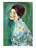 Retrato de una dama Lámina por Gustav Klimt