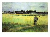 Wheat Field Print by Berthe Morisot