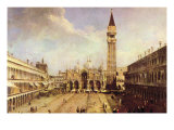 Piazza San Marco Kunst af Canaletto