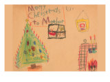 Merry Christmas To Mother Art by Norma Kramer