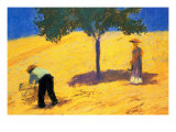 Tree In Cornfield Prints by Auguste Macke