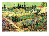 Flowering Garden Art by Vincent van Gogh
