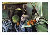 Still Life with Eggplant Poster by Paul Cézanne