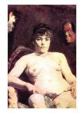 Nude Print by Henri de Toulouse-Lautrec