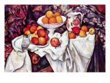 Still Life with Apples and Oranges Láminas por Paul Cezanne