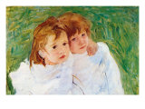 Two Sisters Planscher av Mary Cassatt