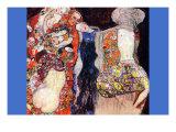 Adorn The Bride with Veil and Wreath Poster von Gustav Klimt
