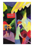 Fashion Window Print by Auguste Macke