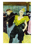 The Clowness Poster by Henri de Toulouse-Lautrec