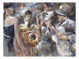 All About Jazz I Giclee Print by Marysia