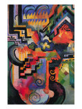 Colored Composition (Homage  Sebastian Johann Bach) Posters by Auguste Macke