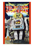 Battery Operated Television Spaceman Posters