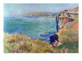 Cliffs At Varengeville Kunstdrucke von Claude Monet
