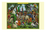 A Pack of Ragtime Irish Setters Prints by Richard Kelly
